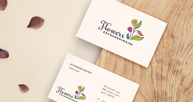 01. Kartu Bisnis Floral