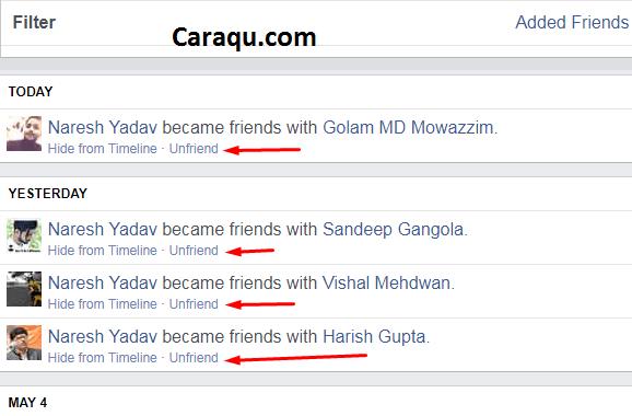 cara menghapus pertemanan di FB