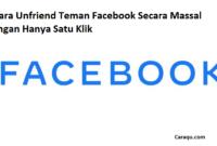 Cara Unfriend Teman FB Secara Massal