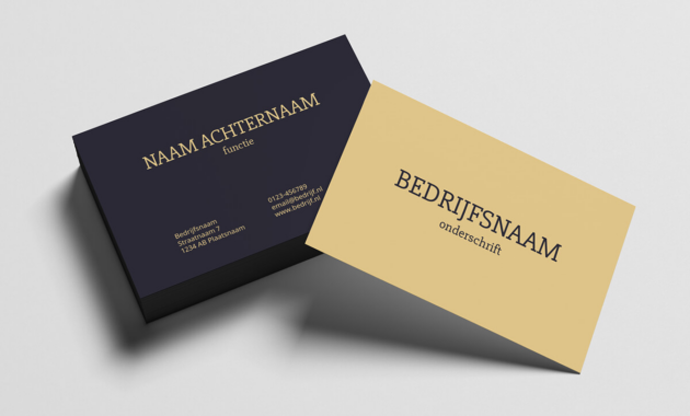 Template desain background kartu nama