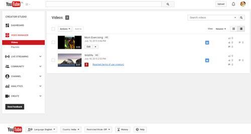 Cara Menghapus Video di Youtube Dari PC