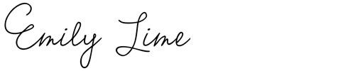 14. Emily Lime - font undangan pernikahan