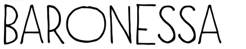 15. Baroness -  font undangan pernikahan
