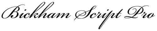 4. Bickham Script Pro