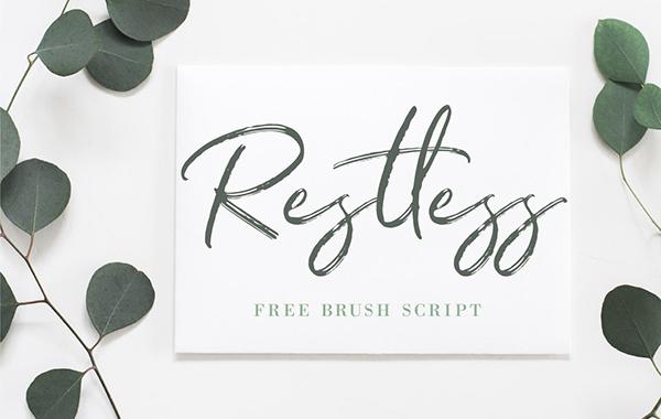 8. Restless -  font undangan pernikahan