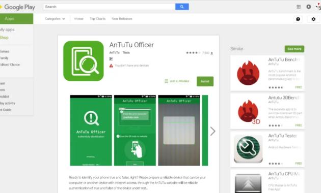 6. Gunakan aplikasi Antutu Officer untuk memverifikasi keaslian Xiaomi