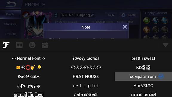 Nickname Mobile Legends Keren Simbol