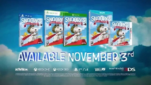 6. Snoopy's great adventure - Game PS4 Untuk Anak Terbaik