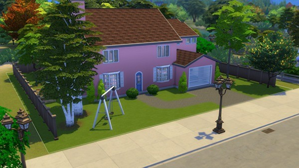 8. Tinggal di rumah Simpsons - The Sims 4 MOD Terbaik