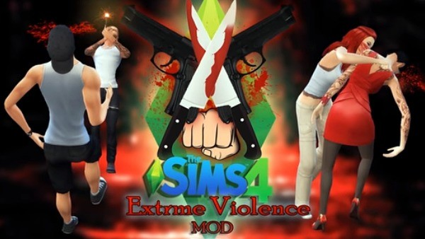 9. Lepaskan kekerasan ekstrim - The Sims 4 MOD Terbaik