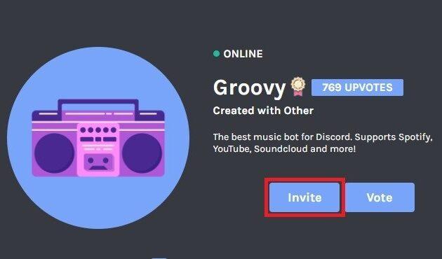 2. Pilih dan instal bot musik untuk server
