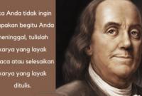 Kata-Kata Bijak Benjamin Franklin
