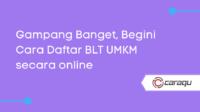 Cara Daftar BLT UMKM secara online