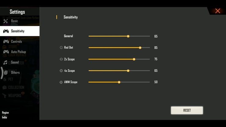 auto headshot ff sensitivity 2021