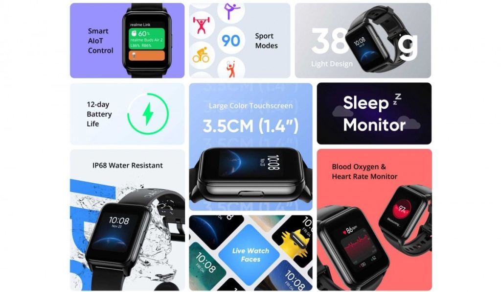 Spesifikasi Realme Watch 2