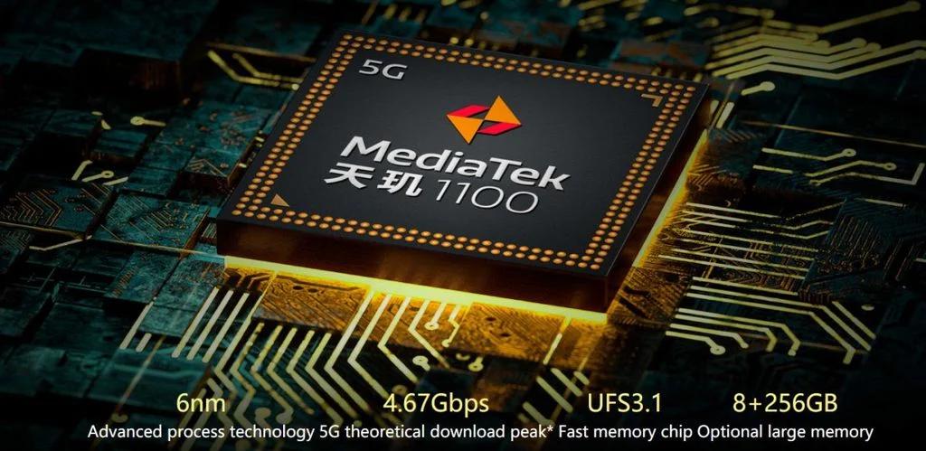 Chip terkuat kedua dari MediaTek, Dimensity 1100 hanya 7% lebih rendah dari Dimensity 1200 dan dapat menghadapi opsi seperti Snapdragon 870 (Gambar: Press Release / Realme)